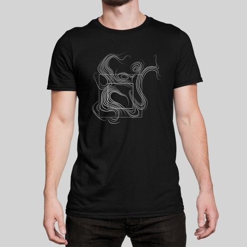 Artist Series Curl t-shirt in black