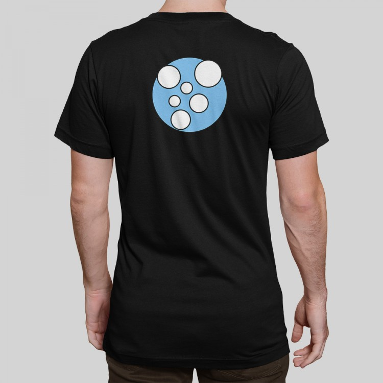X-Particles Emitter t-shirt in black