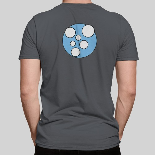 X-Particles Emitter t-shirt in charcoal