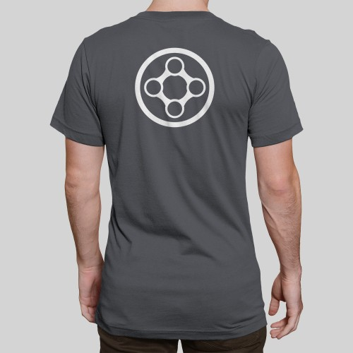 X-Particles Hero t-shirt in charcoal